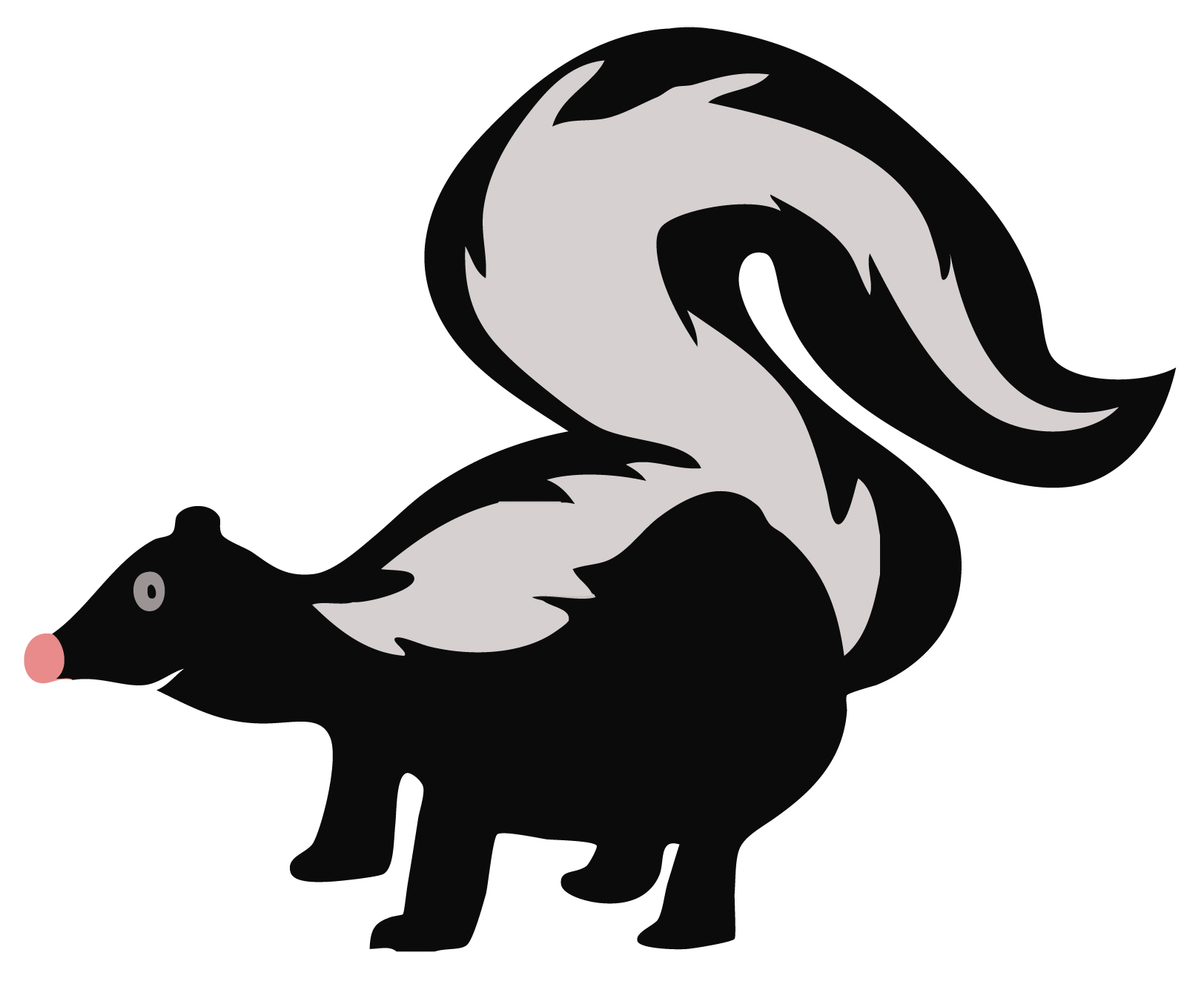 Skunk clipart » Clipart Station.