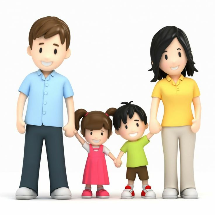 Small Family Clipart.
