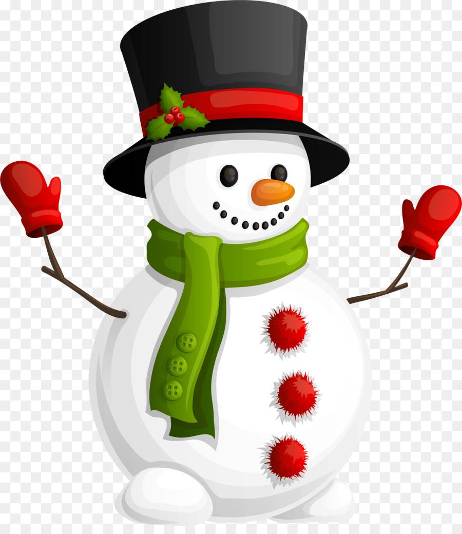Snowman Christmas clipart.