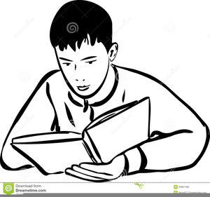 Clipart Of Someone Reading A Book.