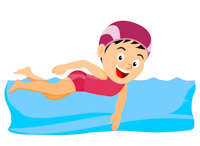 clipart of someone swimming #5