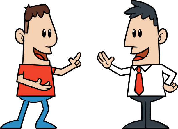 Two People Talking Clipart.