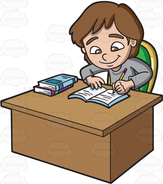 Clipart Someone Doing Homework.
