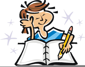 Clipart Of Someone Writing A Sales Letter.