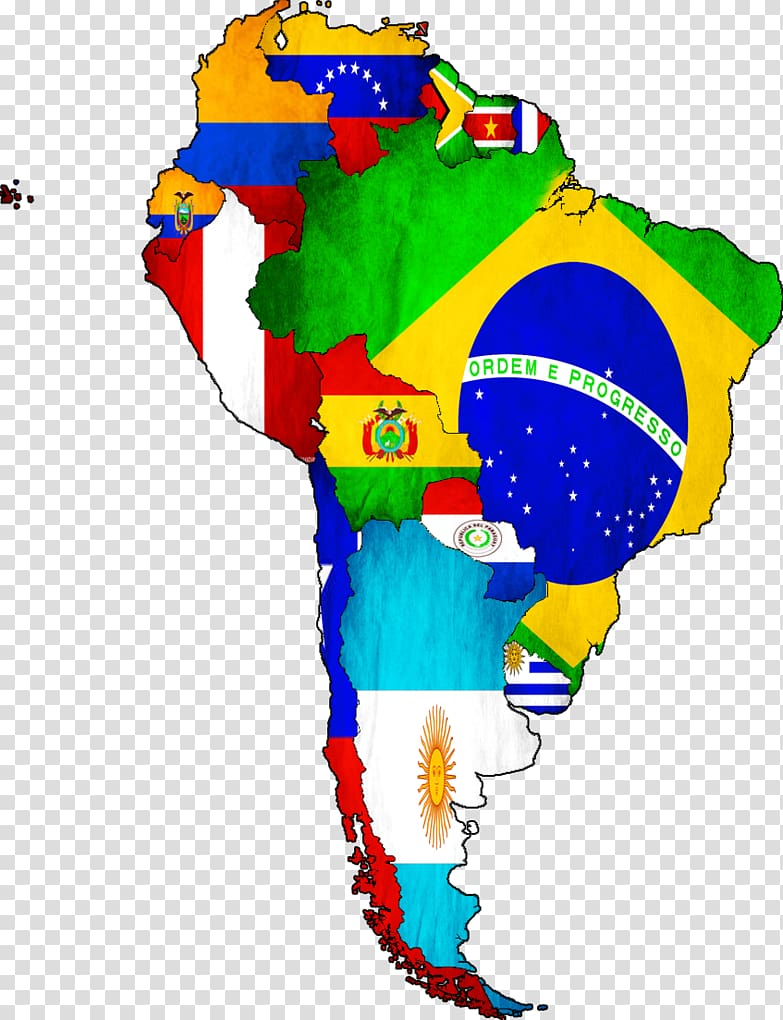 Flags of South America World map United States, world map.