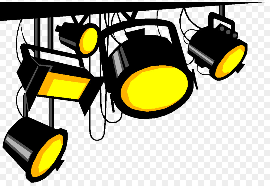 Spotlight Yellow png download.