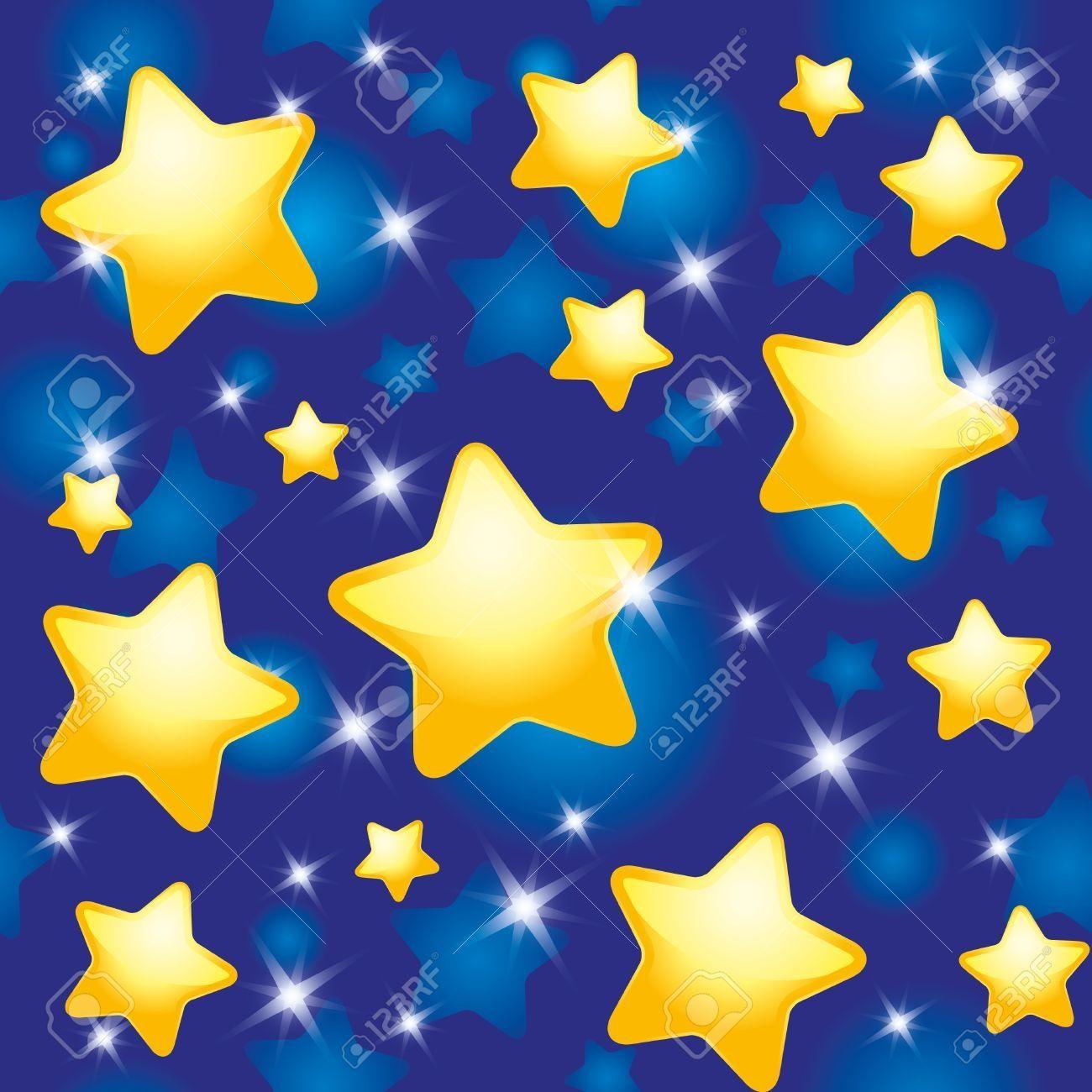 Stars in the Sky Clip Art.