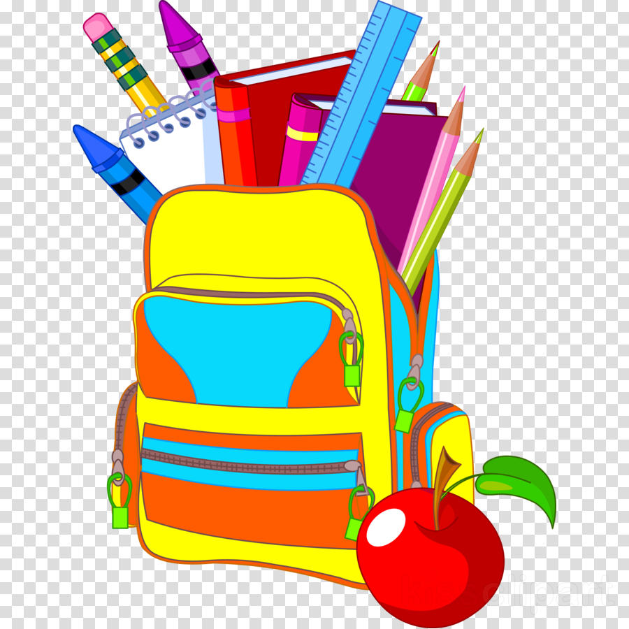 School Bag Cartoon clipart.