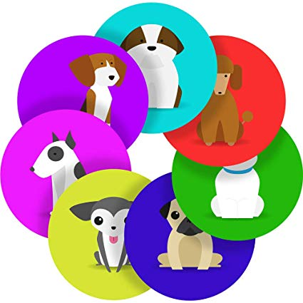 Amazon.com : Clipart Dogs Reward Sticker Labels, 12 Stickers.