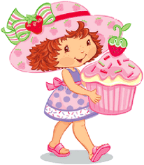 picture black and white stock Strawberry shortcake images.