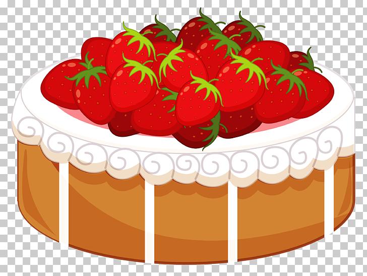 Strawberry cake Birthday cake Shortcake Icing , Cake with.