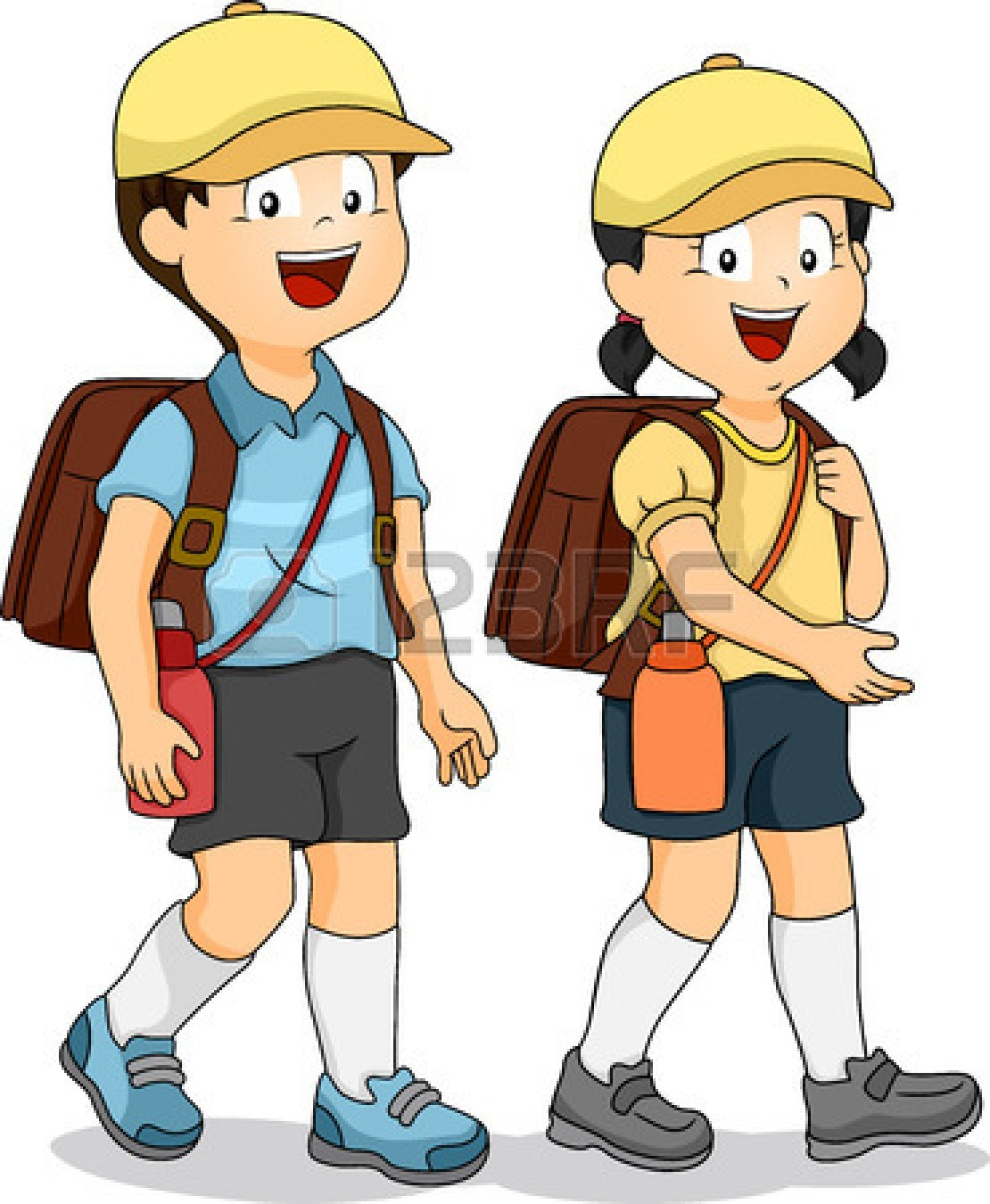 Student Walking Home Clipart.