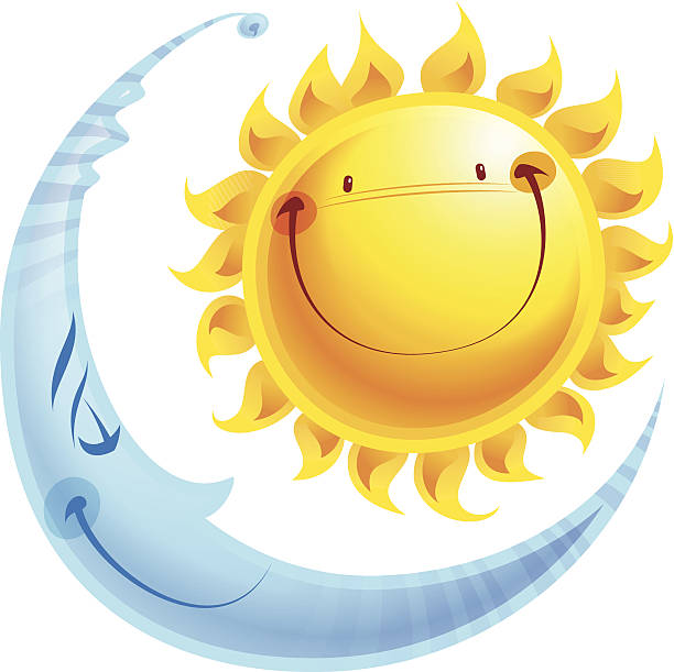 756 Sun And Moon free clipart.