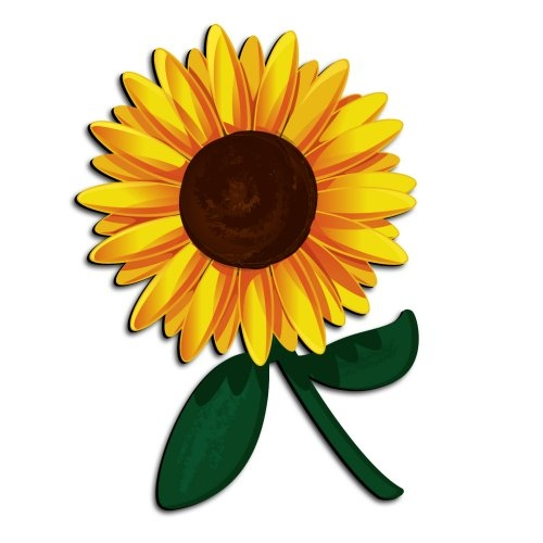 Sunflower clipart 4.