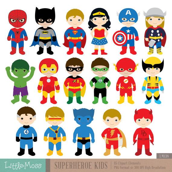 free superhero clipart.