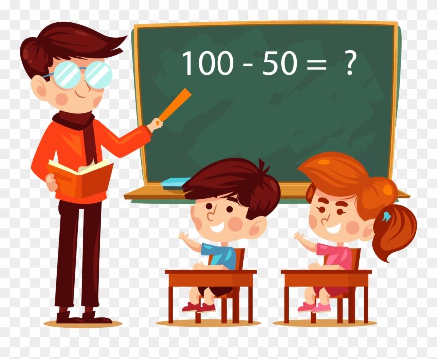 A Teacher And A Student Clipart.
