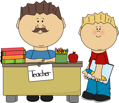 students greeting teacher clipart - Clipground