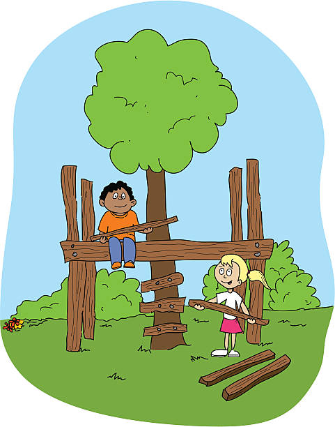 Treehouse Build Clip Art, Vector Images & Illustrations.