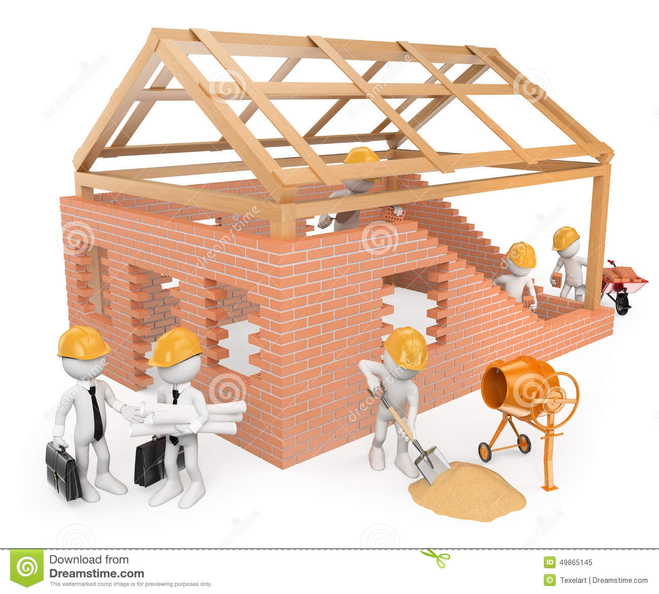 Clipart of teens building a house clipground for Build a house online free