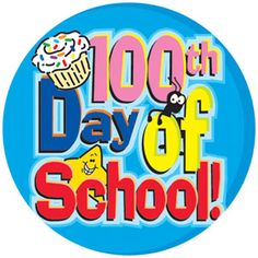 100th Day of School Celebration Clipart.