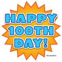 happy 100th day clip art at Lakeshore Learning.