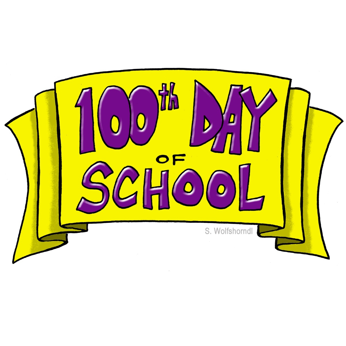 100th Day Of School Clipart#2135303.