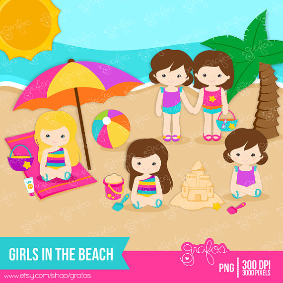 At The Beach Clipart.