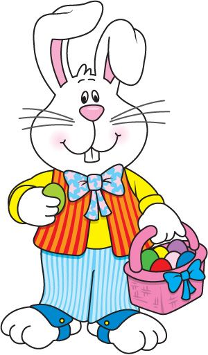 Easter Bunny Painting an Easter Egg clip art image. Description from.