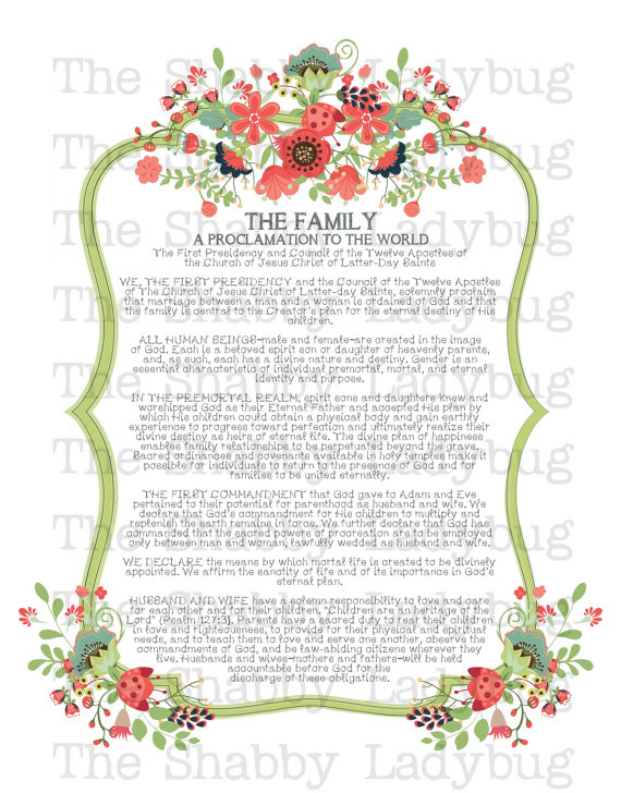 clipart of the family proclamation #8