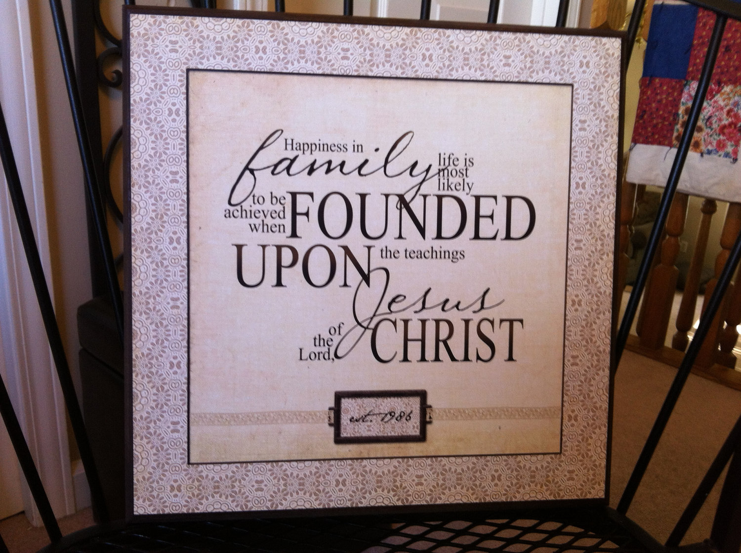 LDS Family Proclamation Quote Plaque Cusomized.