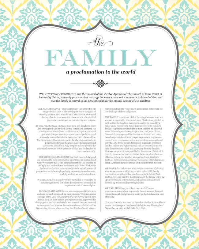 17 Best ideas about Family Proclamation on Pinterest.