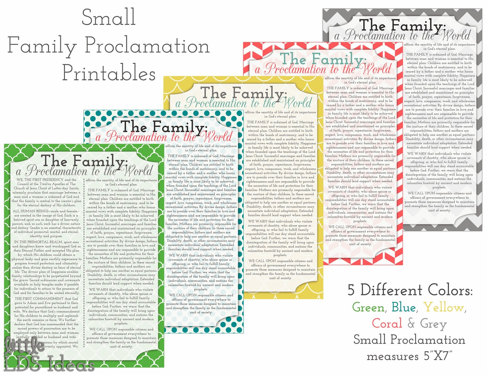 Clipart Of The Family Proclamation.