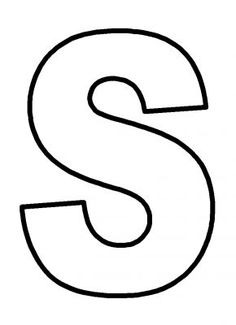 Letter S Clipart Black And White.