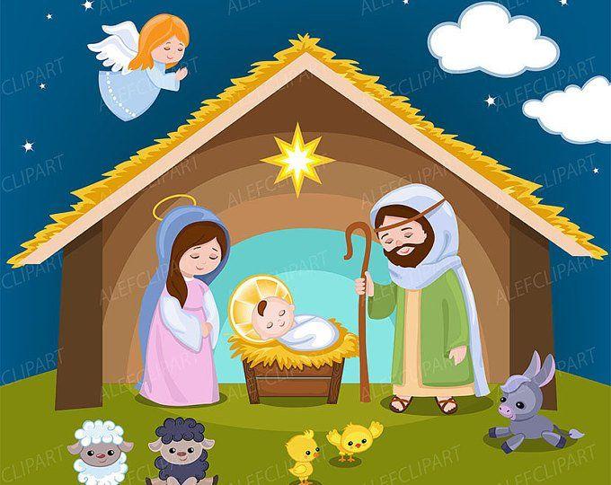 Nativity clipart.