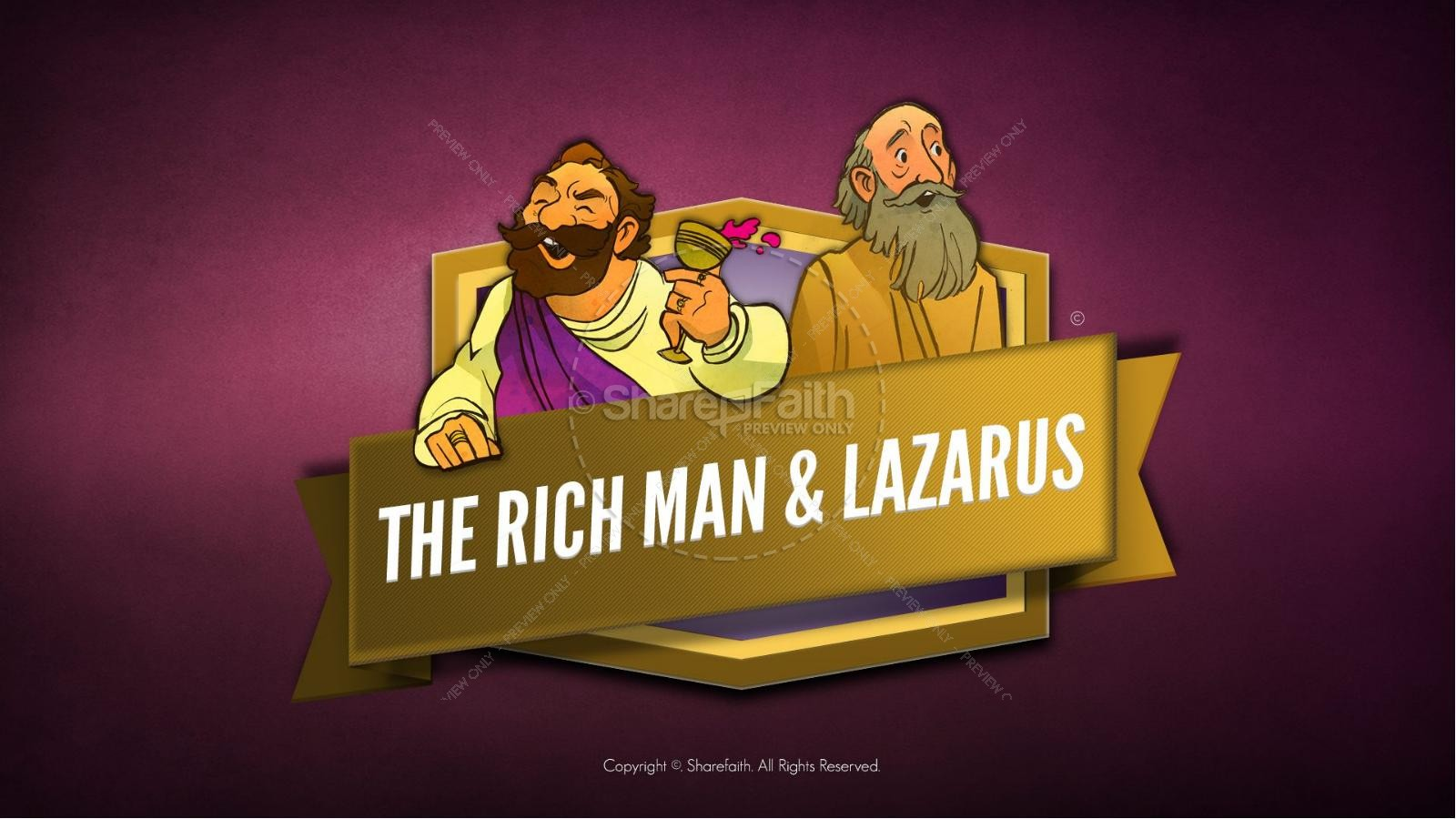 Parable Of The Rich Man And Lazarus Clipart.