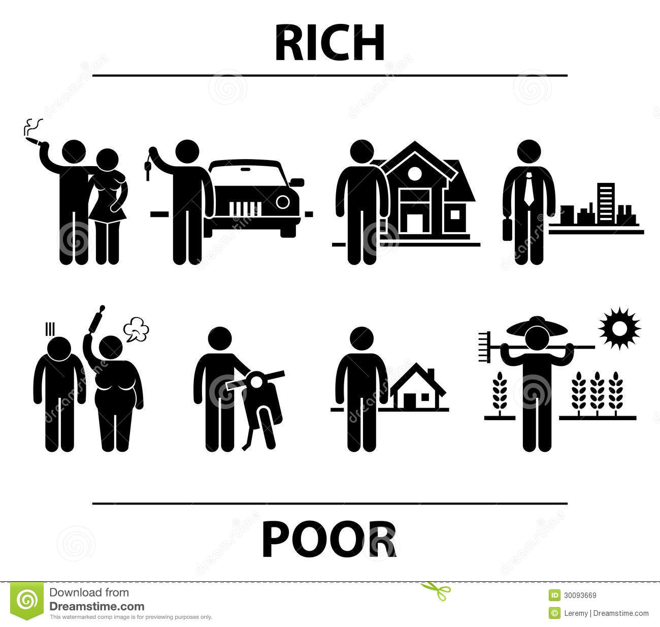 Parable Rich Man And Poor Man Clipart.