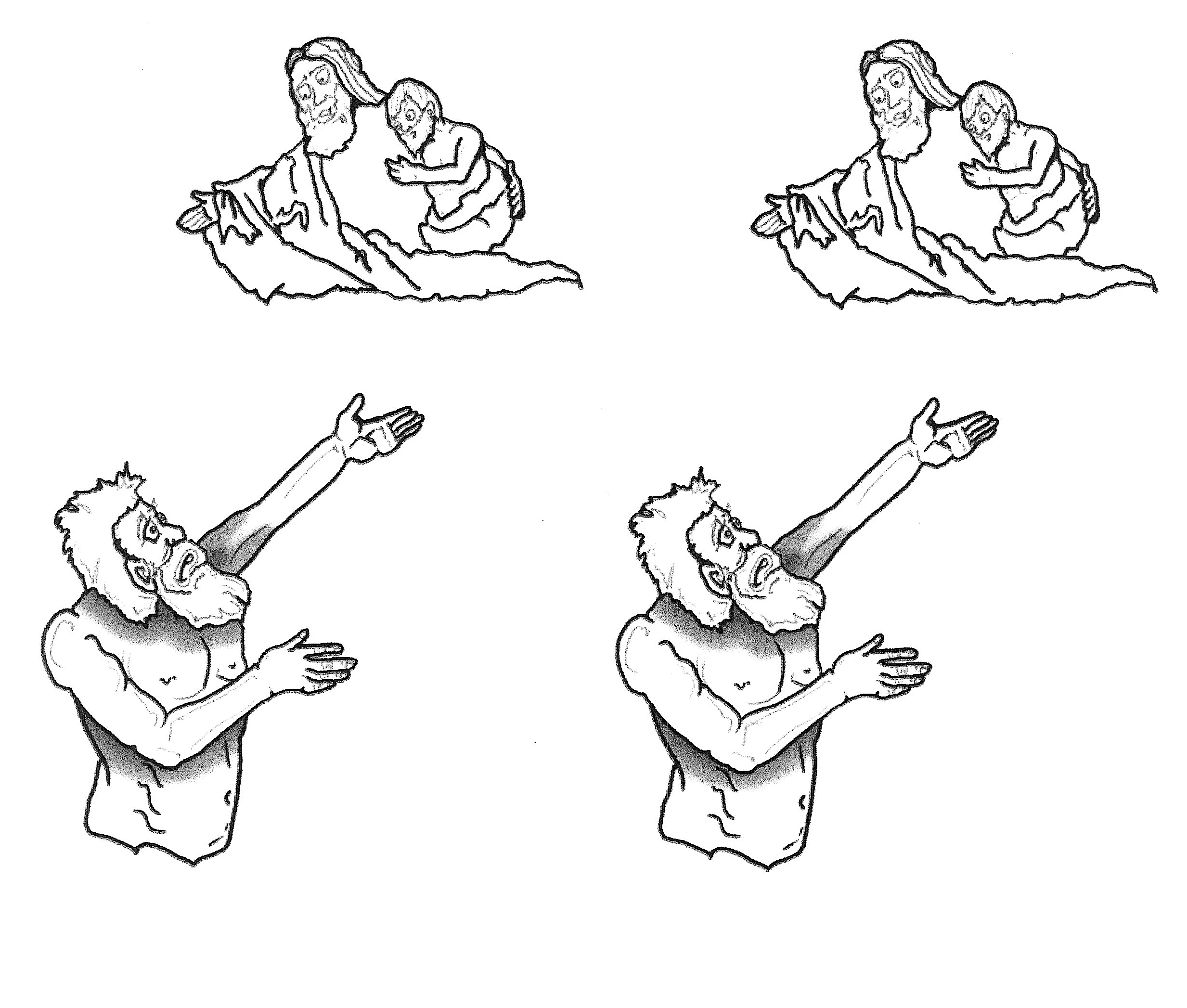 Clipart of the parable of the rich man clipground for Parable of the rich fool coloring page