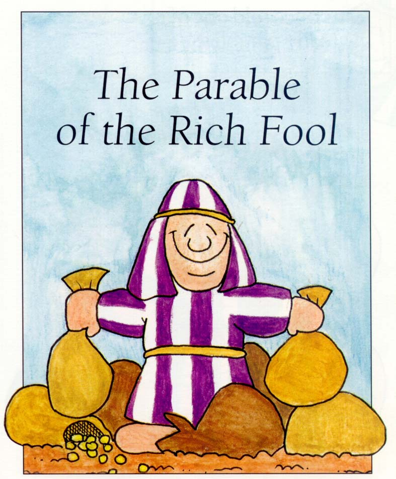 Parable of the Rich Fool free visuals: Jesus tells a parable about.