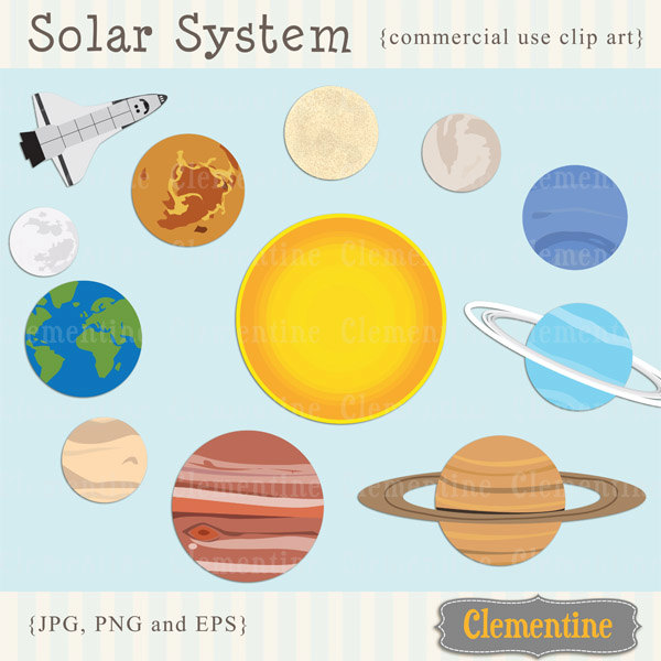 Clipart Of The Planets.