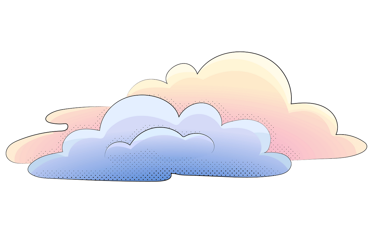 Cloud in the sky clipart. Free download..