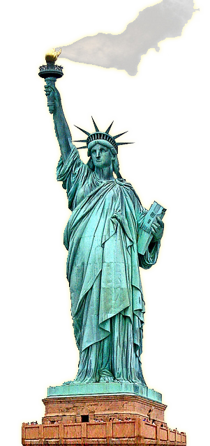 Statue of Liberty clipart burning torch #48673.