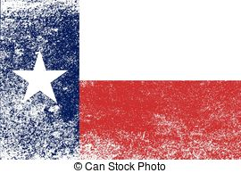 EPS Vector of Grunge Texas flag.