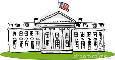 1037 White House free clipart.