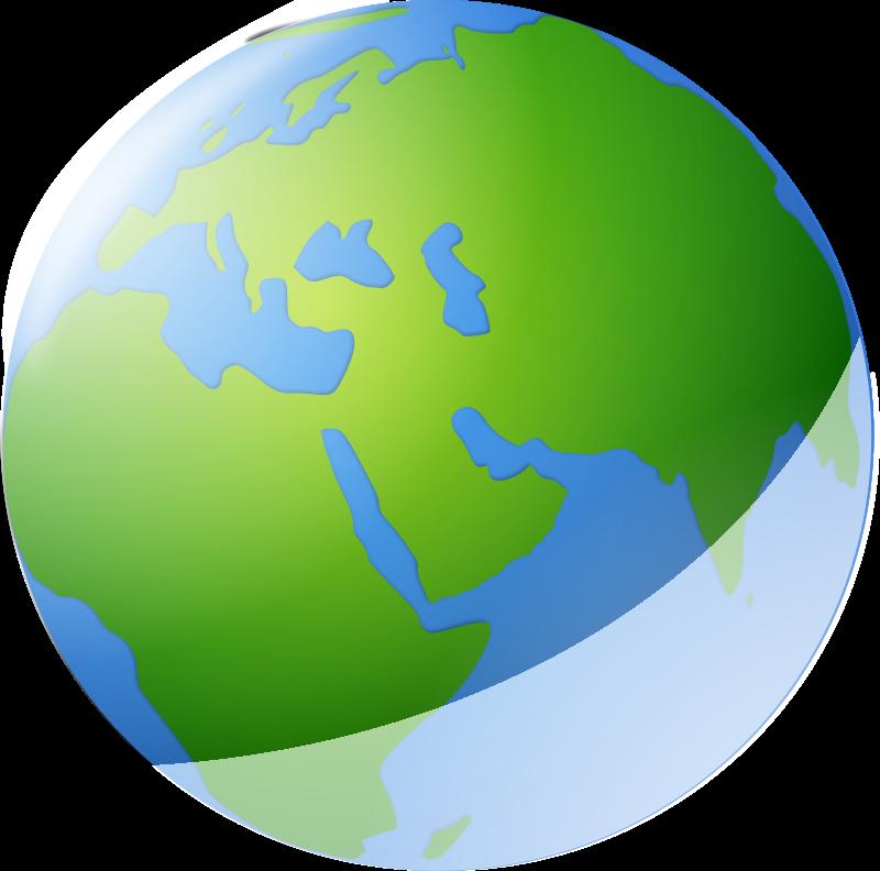 Free Clipart: World globe.