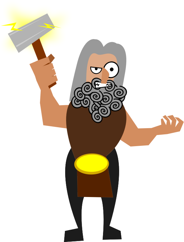 Free Funny Thor Clip Art.