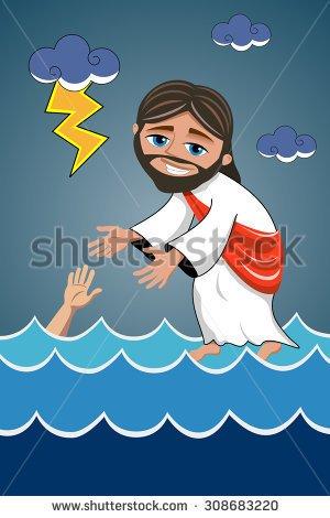 Jesus Walking By Side Clipart.
