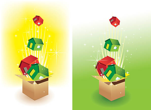 Side By Side Houses Clip Art, Vector Images & Illustrations.