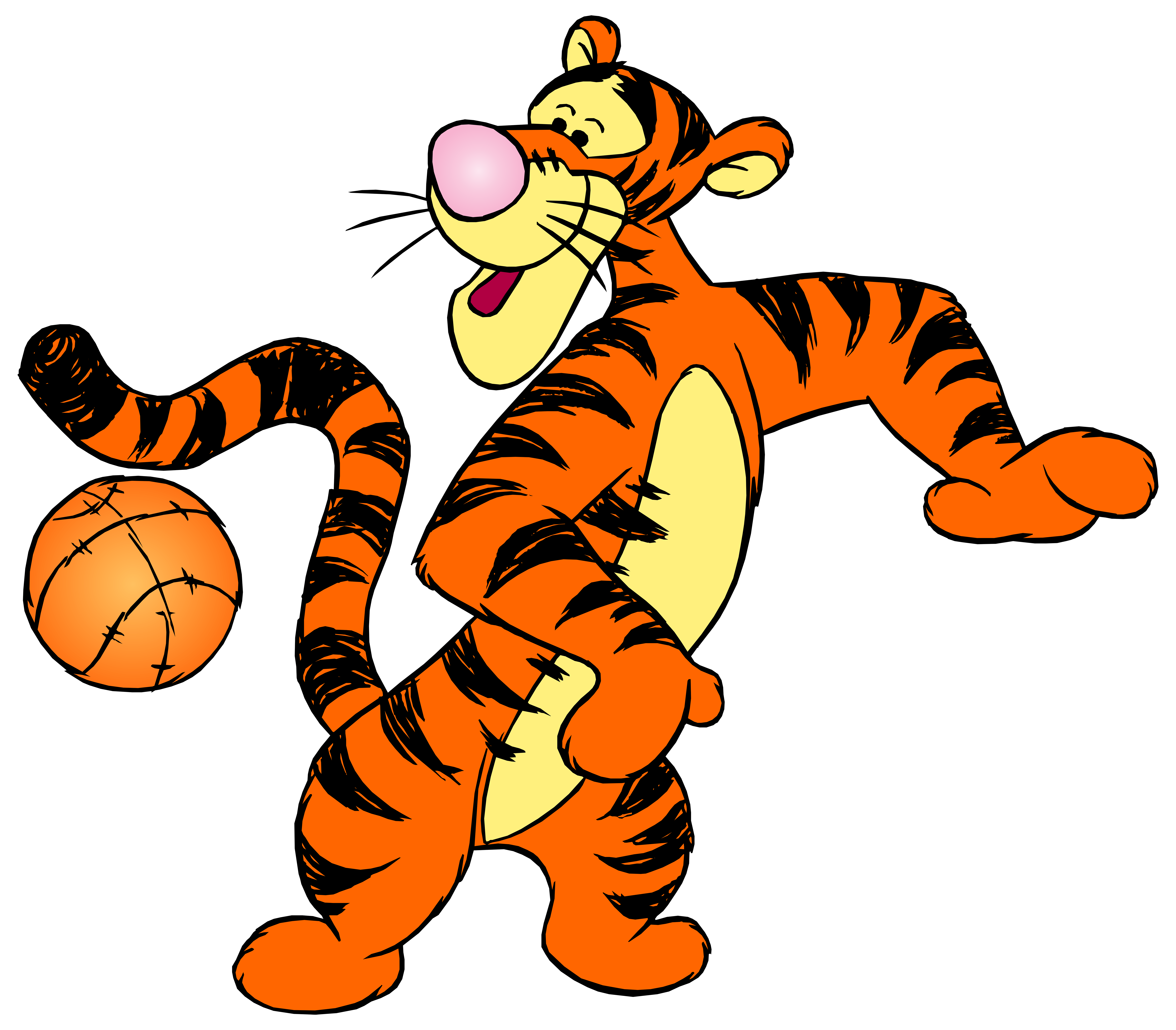 Winnie the Pooh Tigger with Ball PNG Clip Art.