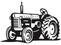 Tractor silhouette icon vector illustration.