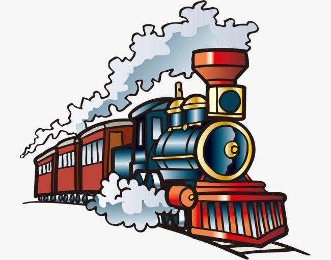 Hand Painted With Cartoon Train, Cartoon Vehicles, Hand.